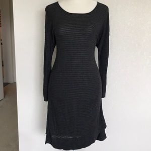 Express Shadow Stripe Knit Tunic Dress